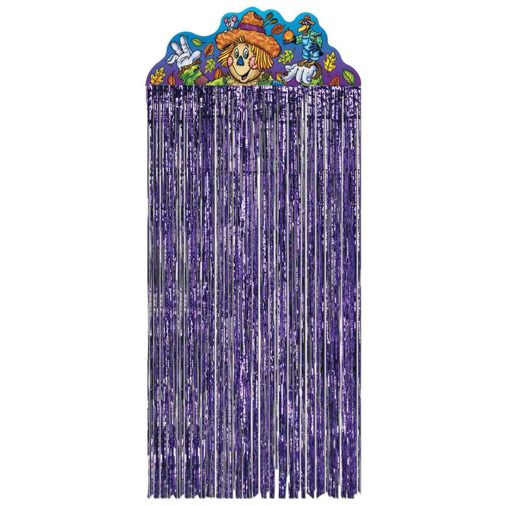 Purple hanging door curtains for kids