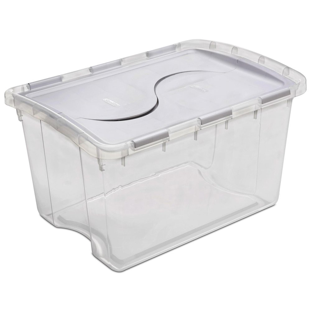 STERILITE Clear Hinged Lid Cabinet Box