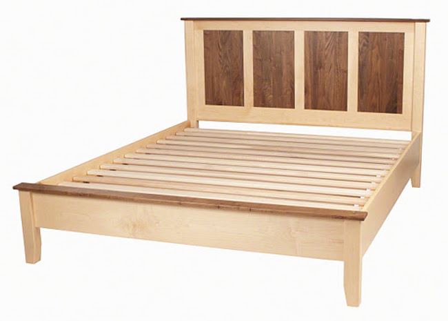 Shaker solid wood platform bed fram