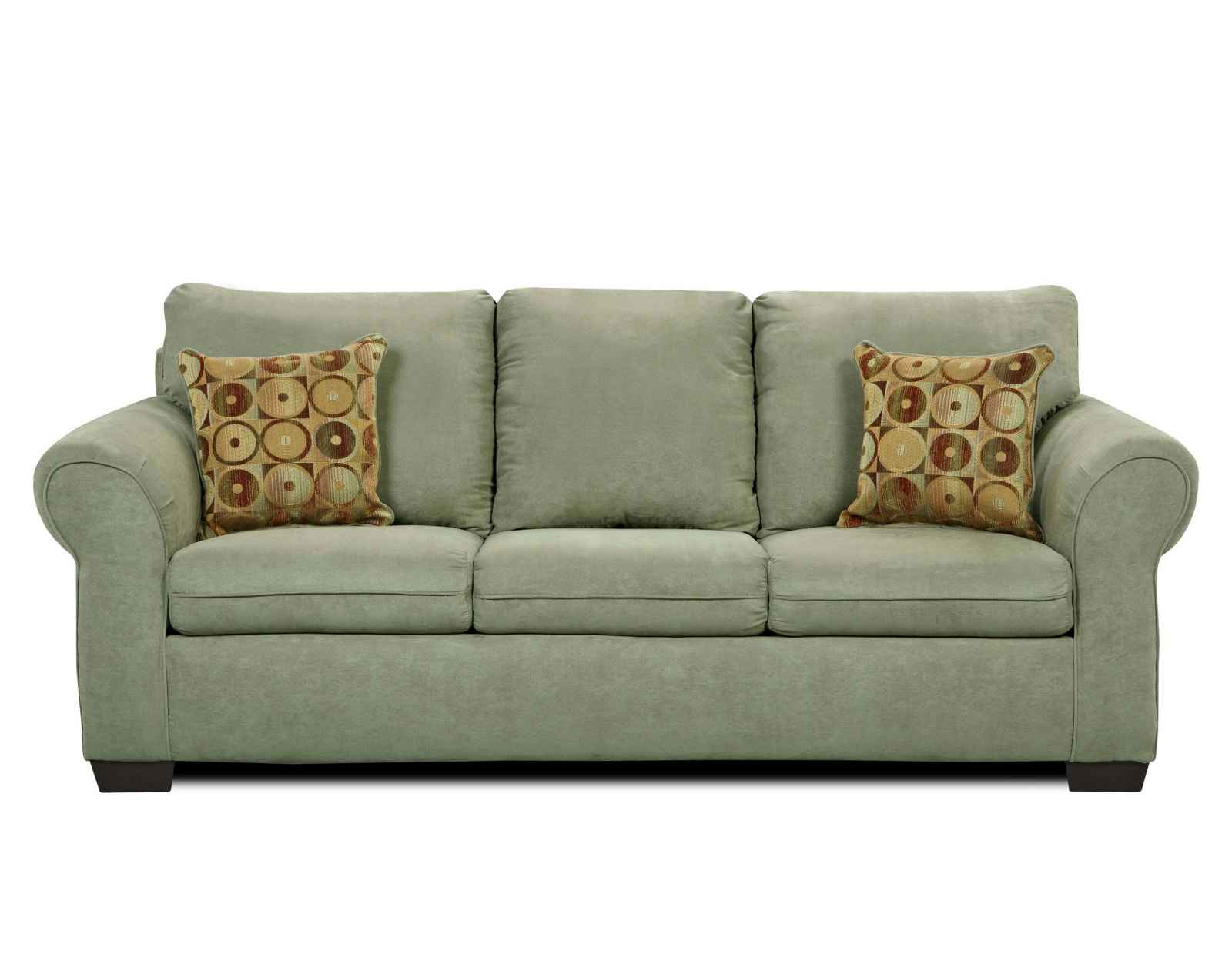 Simmons cheap flat suede sofas and loveseats