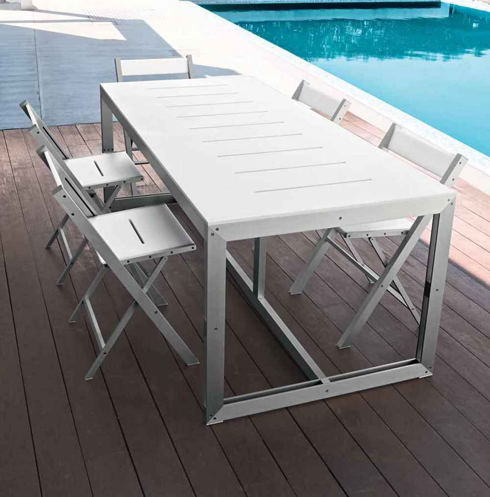 TAO contemporary bar stools and tables for outdoor