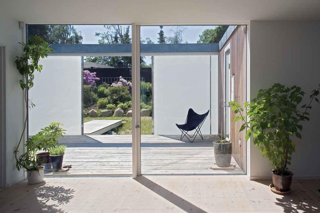 Two panel glass sliding door