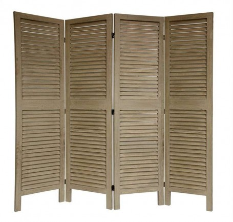Venetian four panel wooden home divider