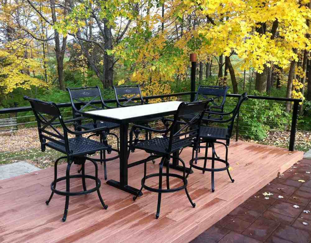 Wrought iron home garden table and chairs