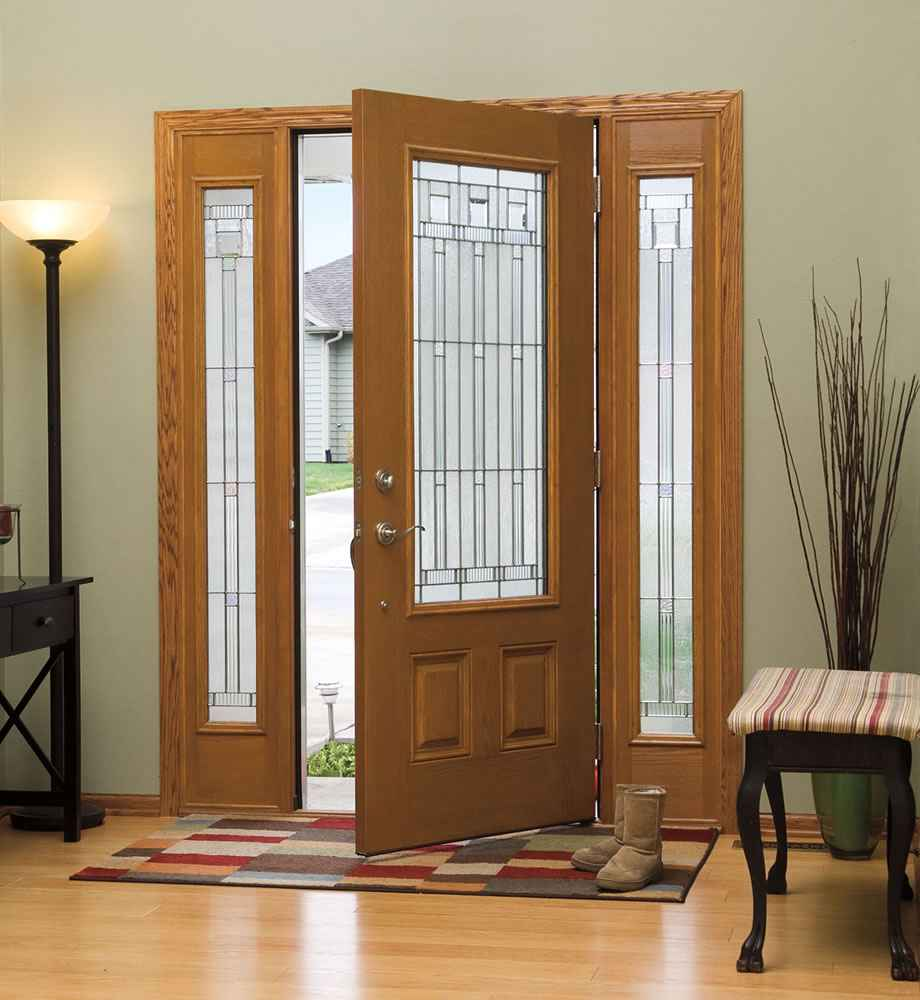 Cheap entry doors with sidelights ideas for Cheap front doors