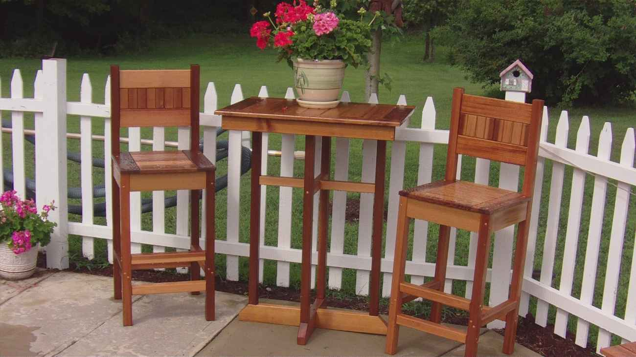 custom outdoor pub table and chairs