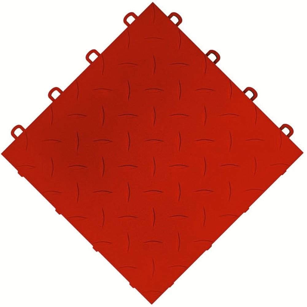 interlocking red ceramic garage tiles