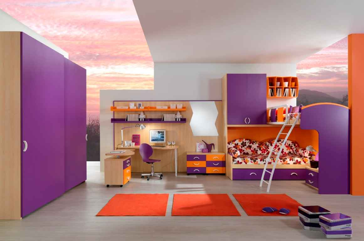Amazing Purple Beds Theme for Girls
