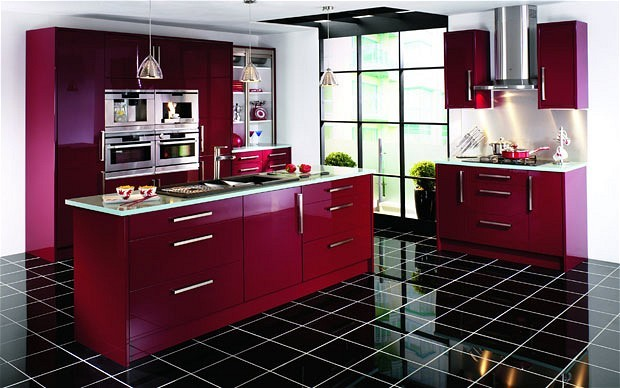 Bordeaux wickes black porcelain tiles kitchen