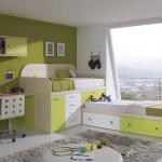 Green cabin bunk beds for twins