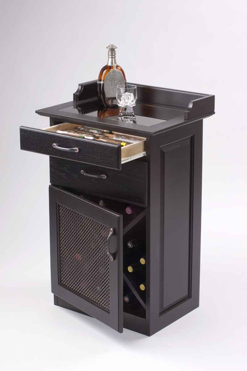Heirloom black wine liquor cabinet