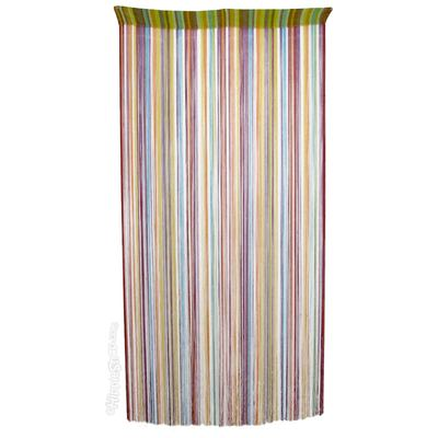 Hippie Door Curtain with Color String Burst