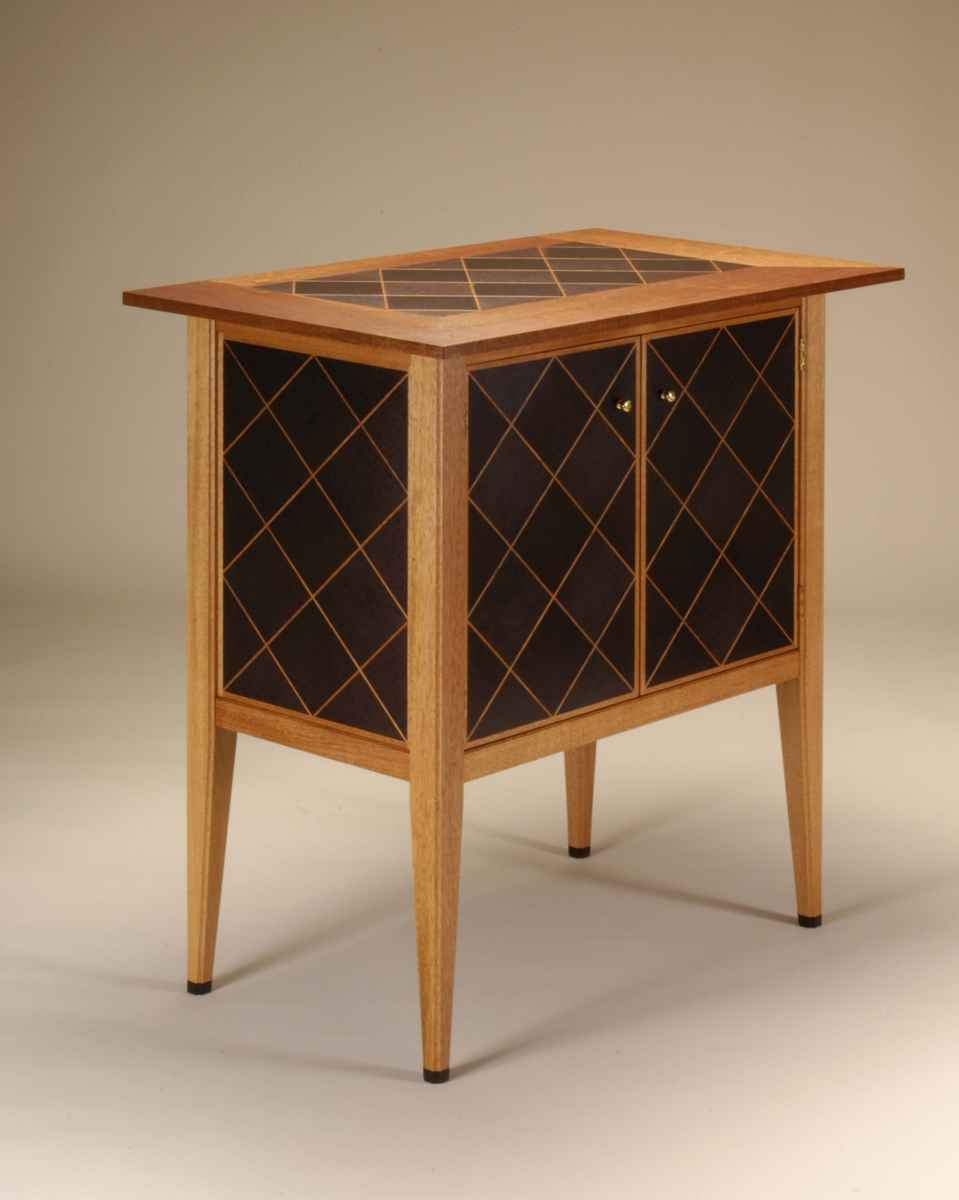 Mahogany Custom Liquor Bar Cabinet