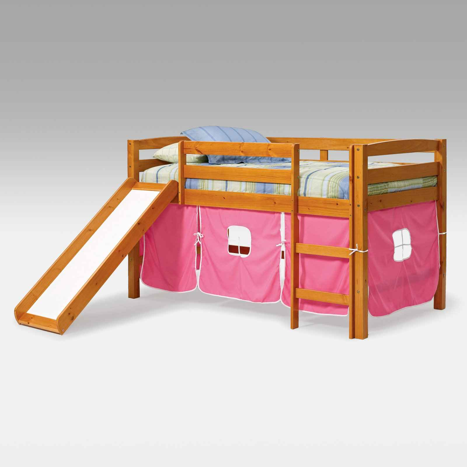 Pink Tent Slide Loft Bed from Josie