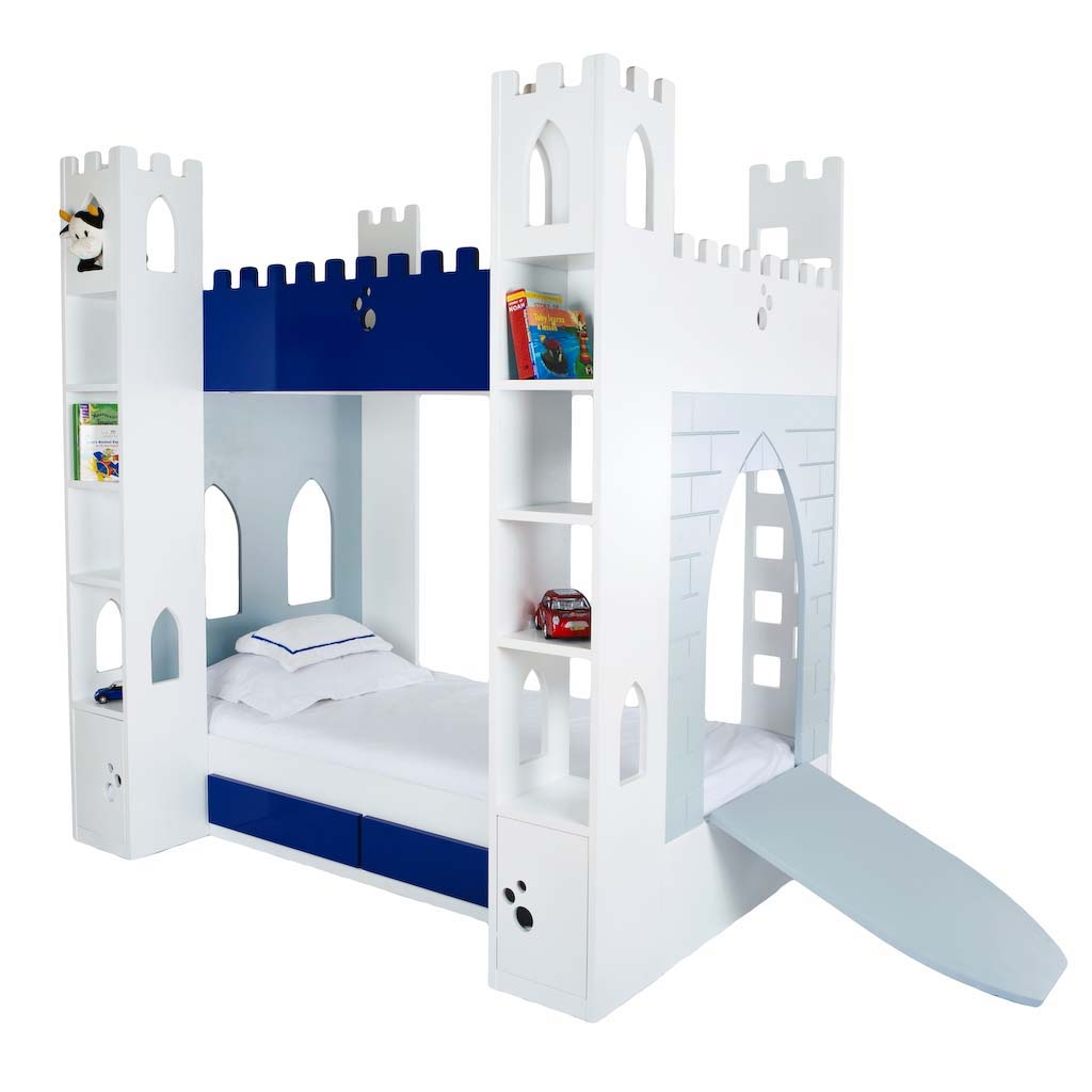 Castle beds for boy with drawbridge