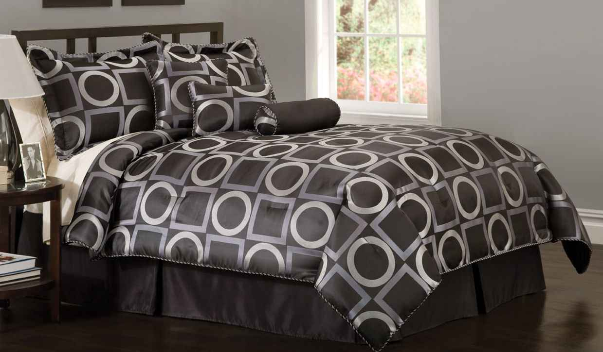 Grid White and Black Bedding Sets