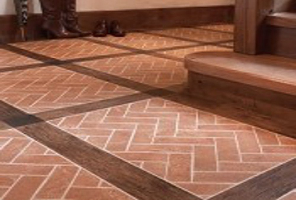 Brick tile flooring feel the home for Luxury floor