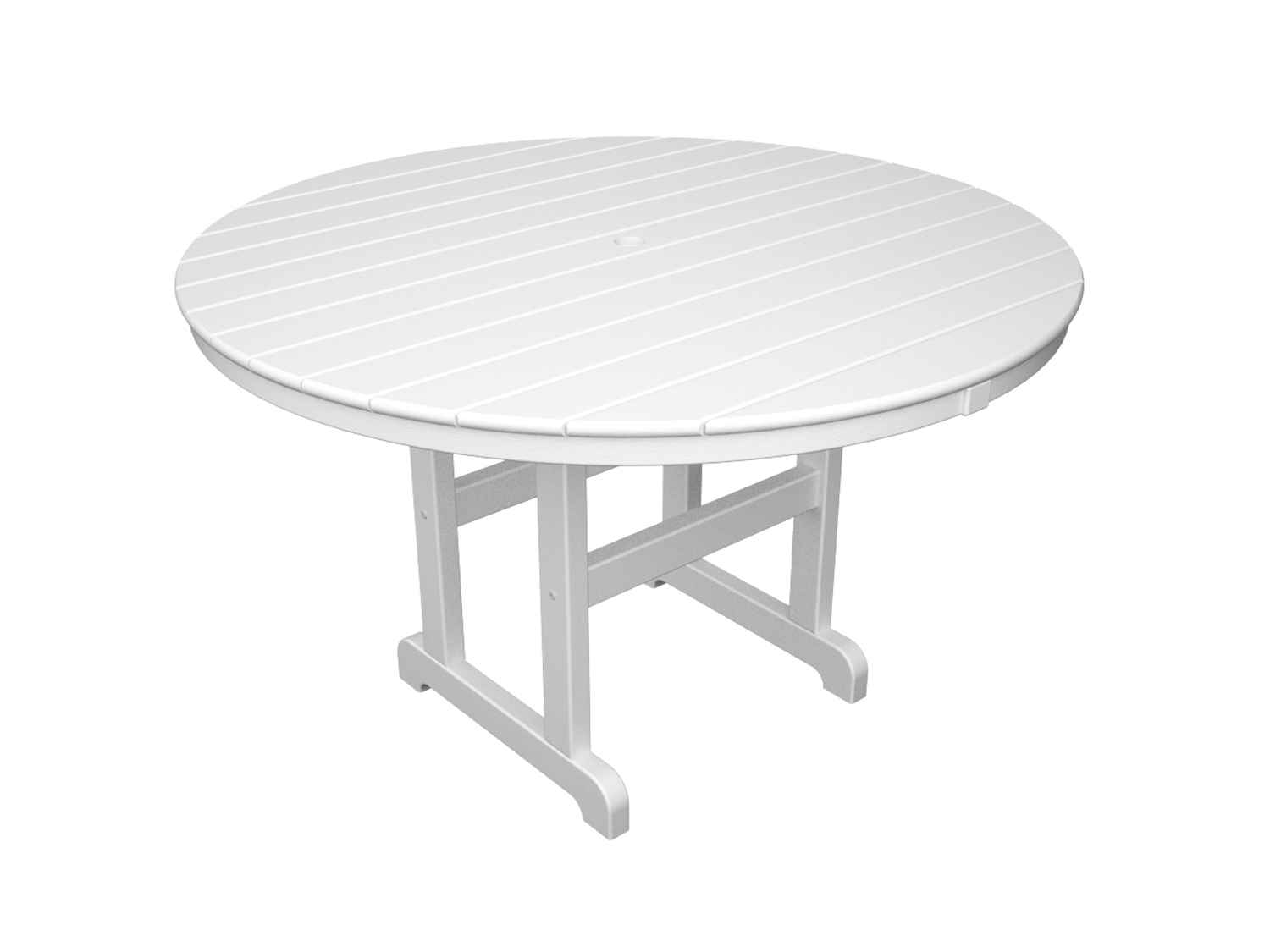 Polywood La Casa White Cafe Outdoor Table