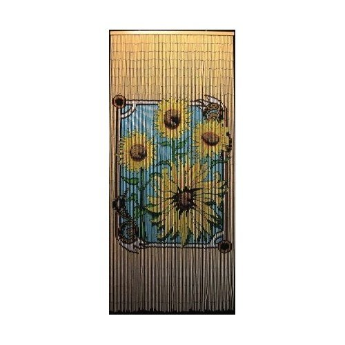 Sunflower Bamboo Gateway Door Curtain