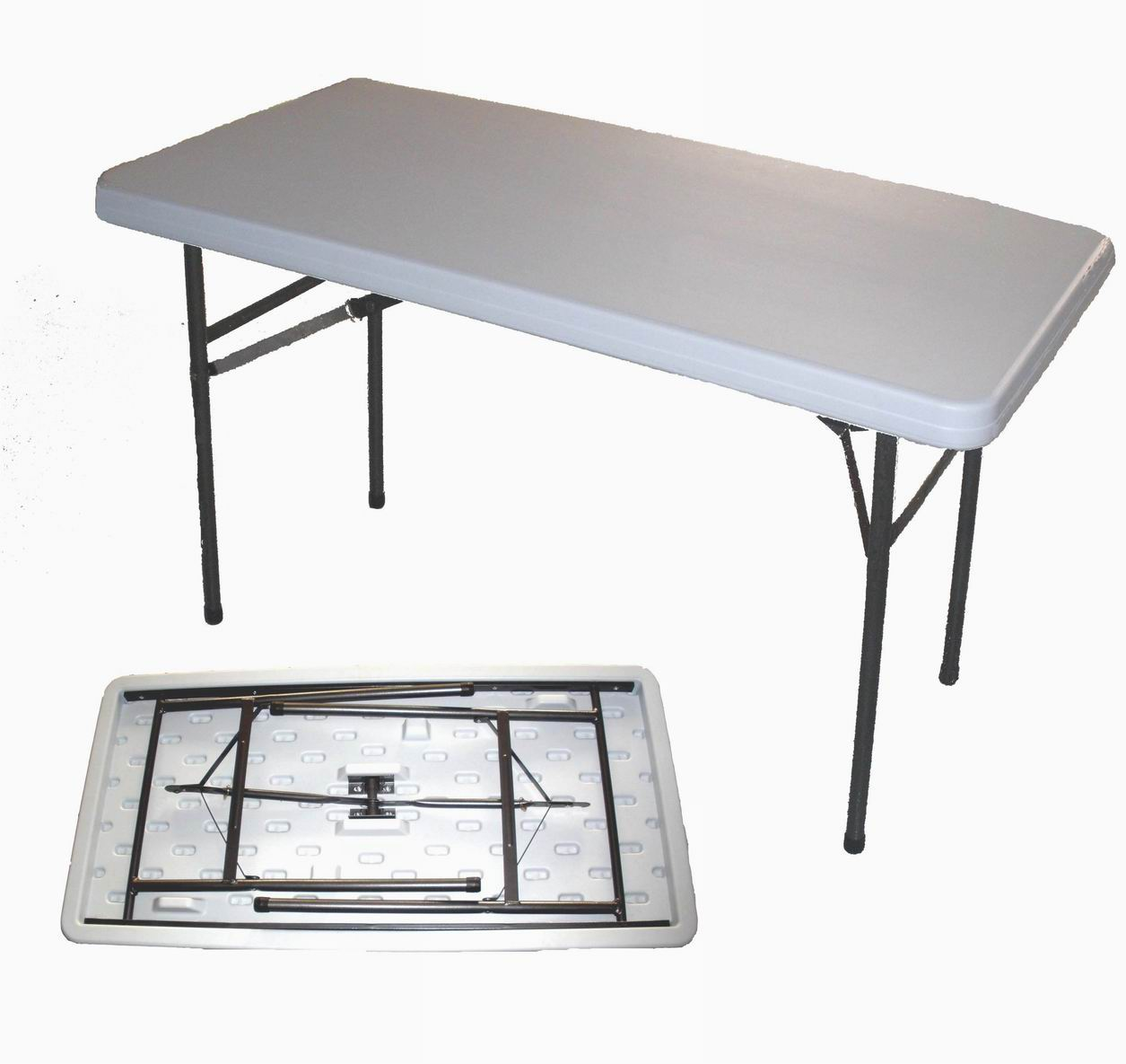 White Folding Plastic Outdoor Table