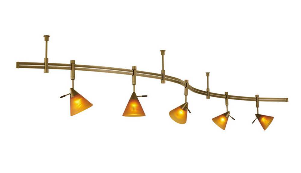 amber shades 5 light track lighting