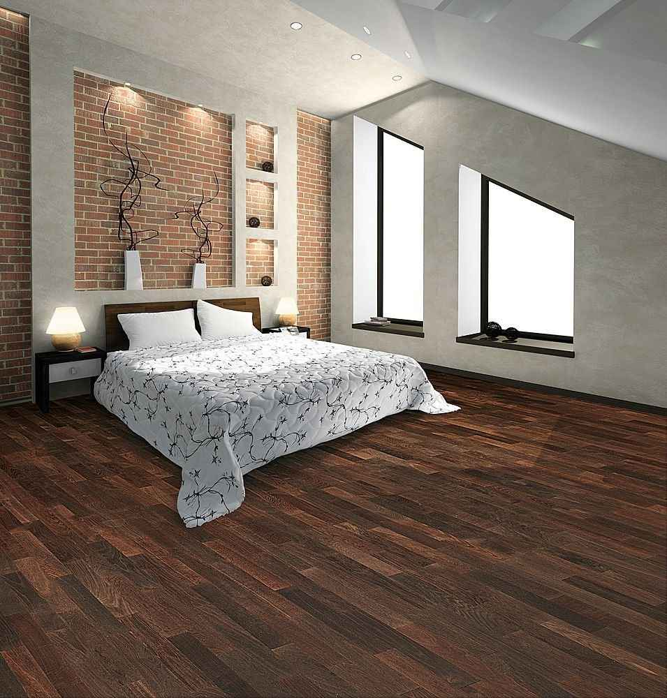 Black oak flooring for bedroom for Bedroom ideas oak