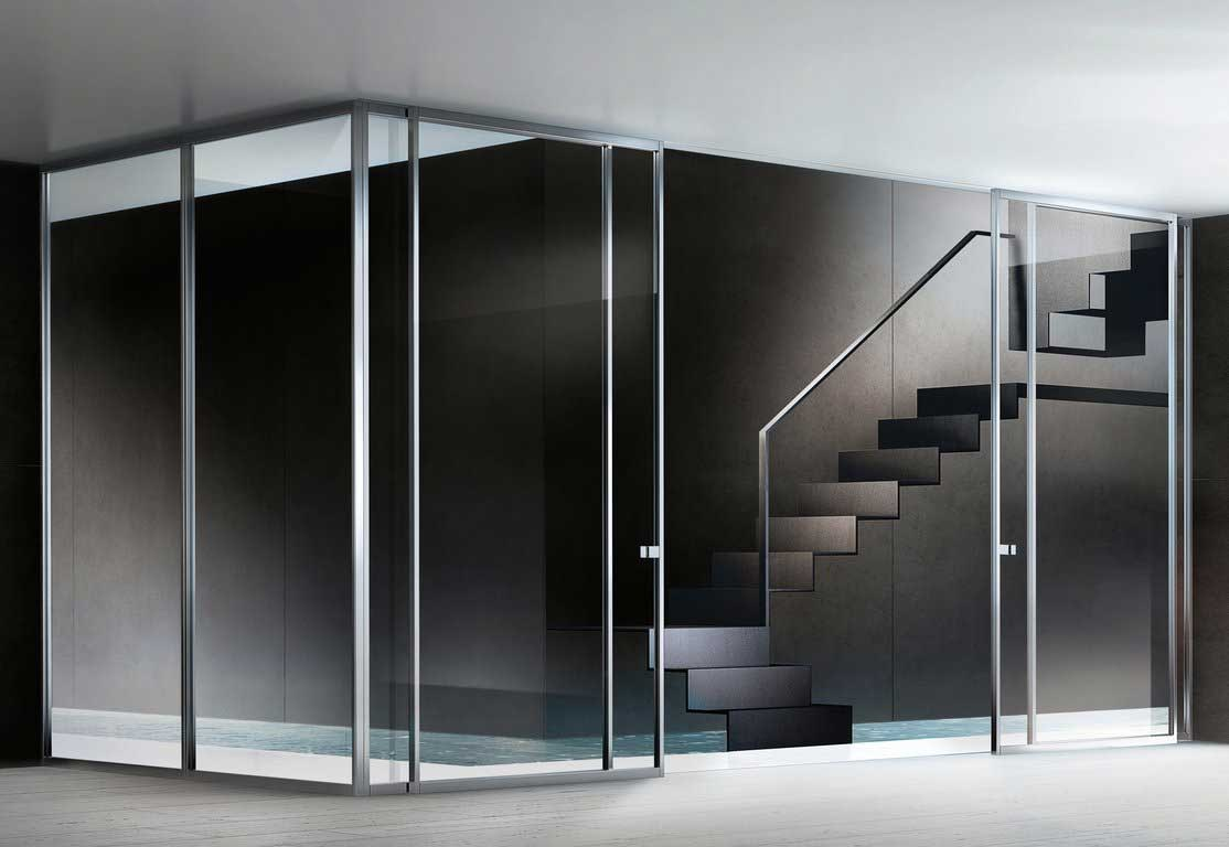 Clear Sliding Glass Entry Door Partition