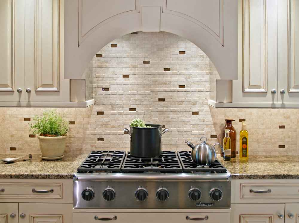 Stone backsplash design feel the home Backsplash mosaic tile