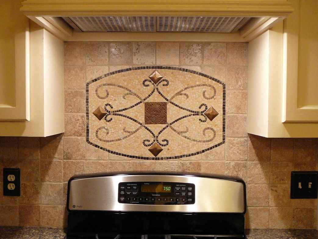 Maicon Gold Medallion Kitchen Backsplash
