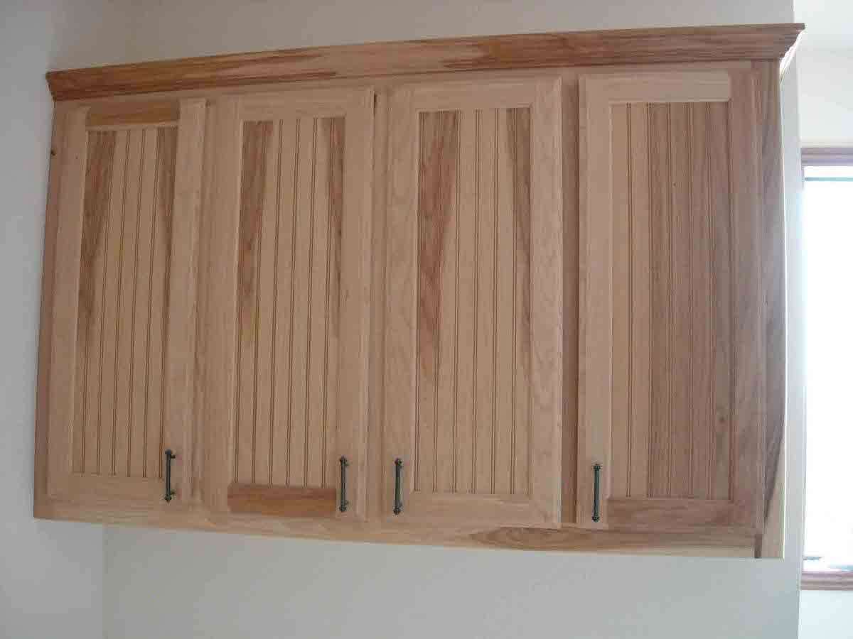 Unfinished Beadboard Kitchen Cabinet