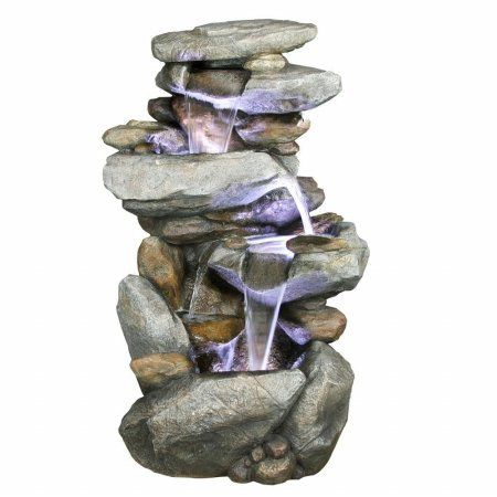 Alpine WIN316 Rock Waterfall Fountain with LED Lights