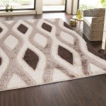 Casa Regina Shaggy Collection Beige Contemporary Abstract Design (7