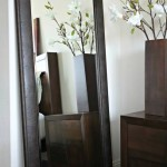 Marcello Full Floor Rustic Dark Charcoal Brown Mirror