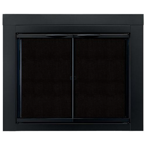 Pleasant Hearth AN-1010 Alpine Fireplace Glass Door, Black, Small