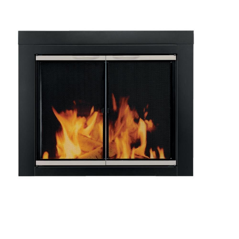Pleasant Hearth AP-1131 Alsip Fireplace Glass Door, Medium