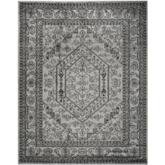 Safavieh Adirondack Collection ADR108A Silver and Black Area Rug, 9 feet by 12 feet (9' x 12')
