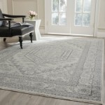 Safavieh Adirondack Collection ADR108B Ivory and Silver Area Rug, 6 feet by 9 feet (6