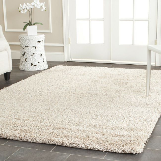 "Safavieh California Shag Collection SG151-1313 Beige Shag Area Rug, 9 feet 6 inches by 13 feet (9'6"" x 13')"