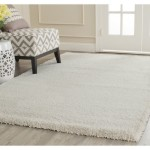 Safavieh Milan Shag Collection SG180-1212 Ivory Shag Area Rug, 8 feet 6 inches by 12 feet (8