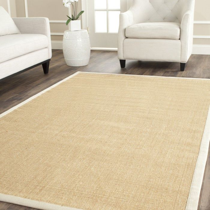 Safavieh Natural Fiber Collection NF441K Handmade Maize and Wheat Sisal Area Rug, 9 feet by 12 feet (9' x 12')