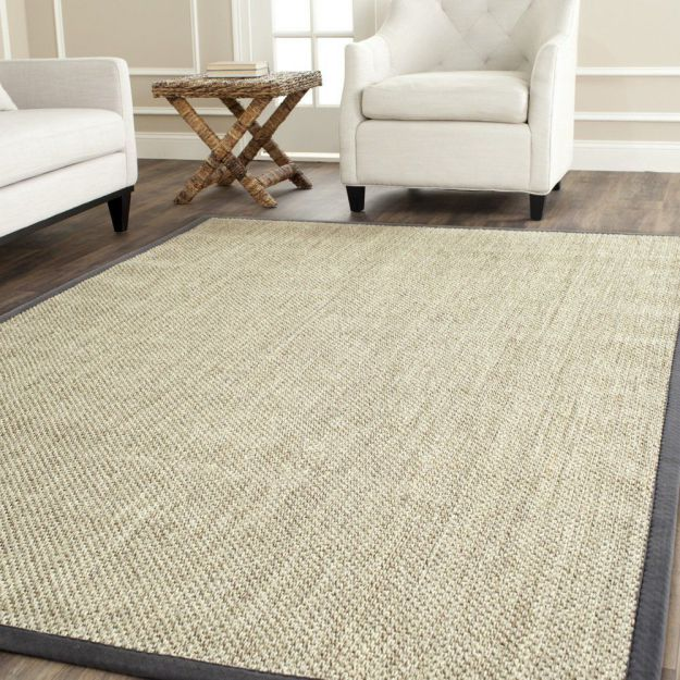 Safavieh Natural Fiber Collection NF443B Handmade Marble and Grey Sisal Area Rug, 8 feet by 10 feet (8' x 10')
