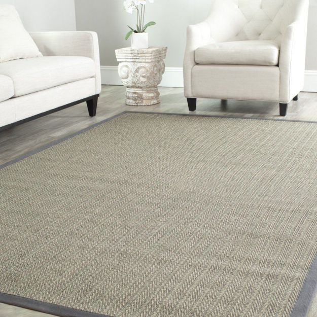 Safavieh Natural Fiber Collection NF444A Handmade Grey Brown and Grey Sisal Area Rug, 9 feet by 12 feet (9' x 12')
