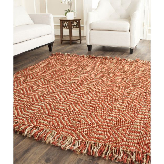Safavieh Natural Fiber Collection NF445A Handmade Rust Sisal Area Rug, 8 feet by 10 feet (8' x 10')