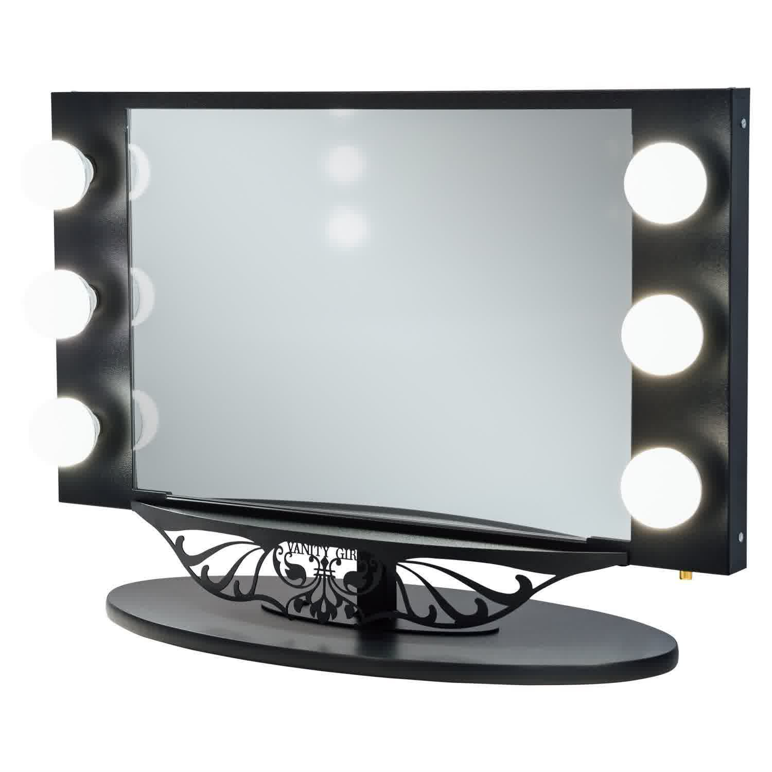 hollywood lighted vanity mirror feel the home. Black Bedroom Furniture Sets. Home Design Ideas