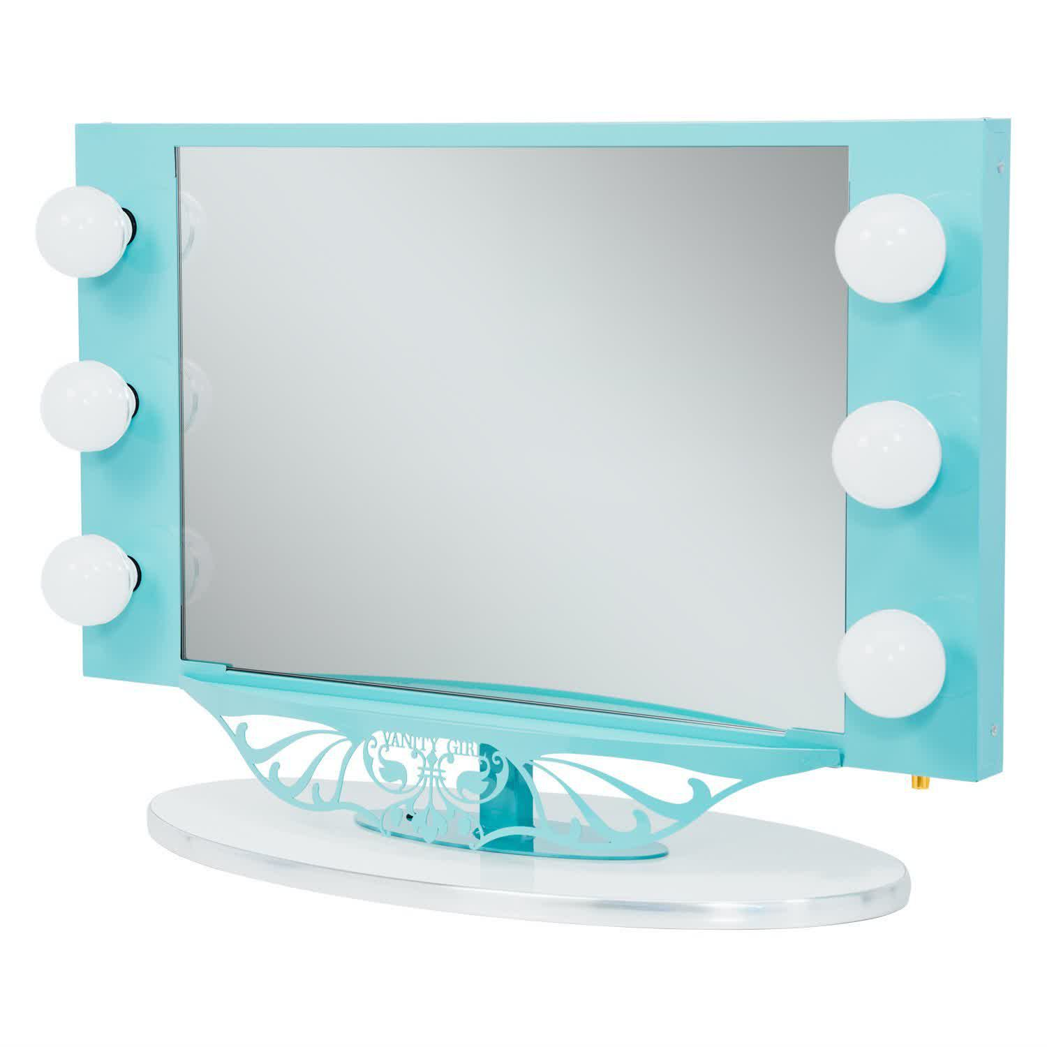 hollywood lighted makeup mirror feel the home. Black Bedroom Furniture Sets. Home Design Ideas