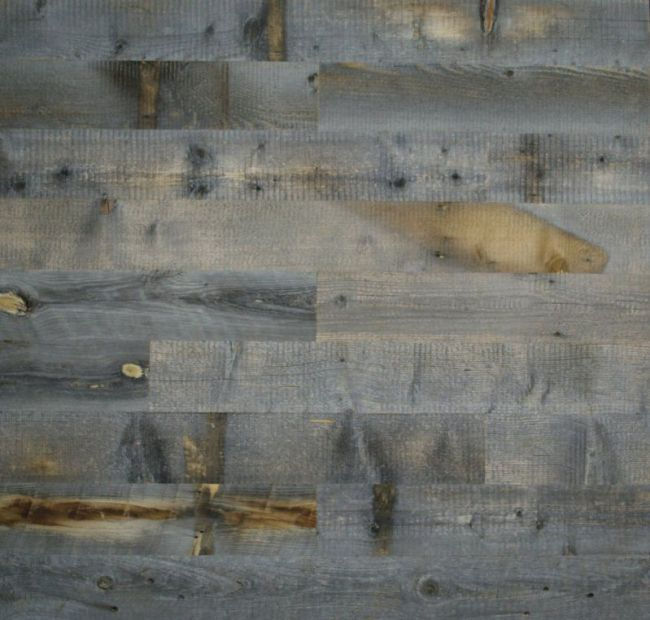 Adhesive wood paneling feel the home for Adhesive reclaimed wood planks