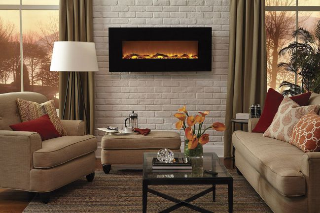 "Touchstone Onyx 50"" Electric Wall Mounted Fireplace"