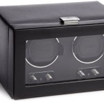 WOLF Double Watch Winder with Cover Black