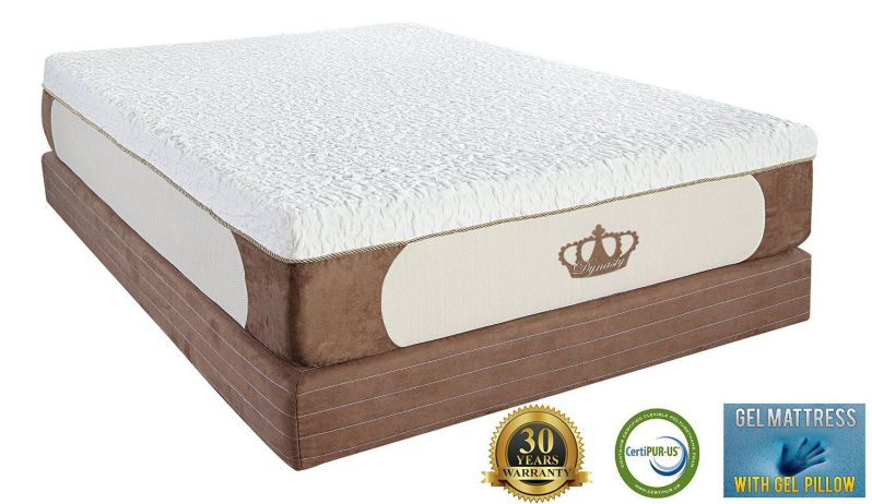 DynastyMattress Cool Breeze 12-Inch Gel Memory Foam Mattress, King Size