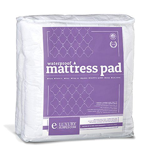 Extra Plush Fitted Waterproof Mattress Topper / Pad, Twin XL